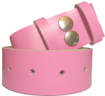 38mm Pink Snap Fit Leather Belt